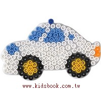 警車造型模板:小拼豆模板