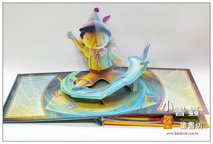 內頁放大:名家立體書:Pinocchio(木偶奇遇記)立體+音效