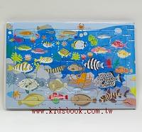 海洋世界拼圖(20.25.30pcs):階梯式日本幼兒拼圖