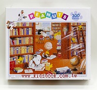 300pcs 史努比午後的圖書館:日本拼圖