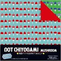 日本花紙(雙面):菇菇(6色調36枚)(現貨數量>5)