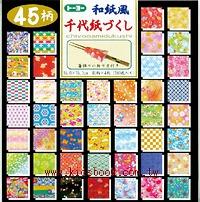 日本色紙:45款和風千代紙