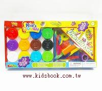 12色黏土組Kid,s DOUGH(HK)+30件工具(黏土清倉特價品)