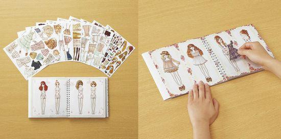 內頁放大:貼紙遊戲書:服裝搭配遊戲OSHARE NOTE LIZ LISA 3(現貨數量:1)