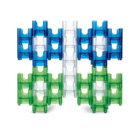 內頁放大:滾球迷宮積木(藍、綠色系) Q-BA-MAZE WARM