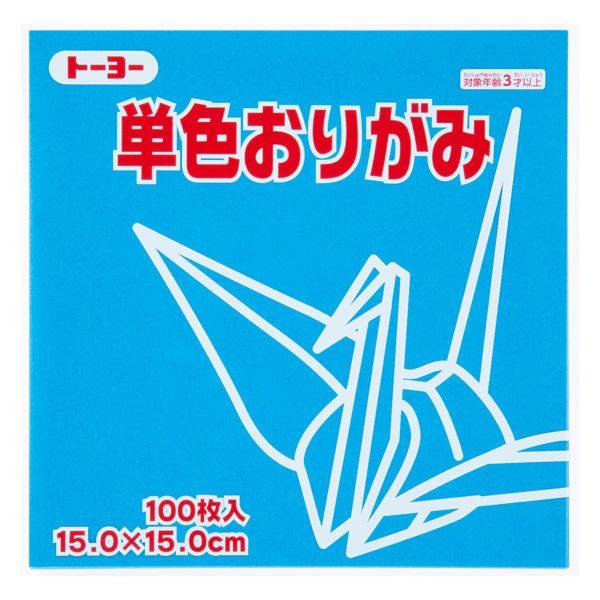 內頁放大:日本色紙─單色(水藍) 64136