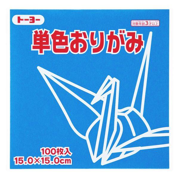 內頁放大:日本色紙(單色)(單包):天空藍64137