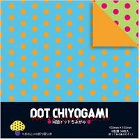 日本花紙(雙面):彩色單色點點(中)(6色調36枚)(現貨數量>5)