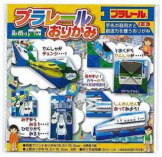 多美車摺紙材料包(電車、火車):日本色紙