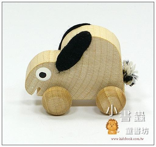 內頁放大:可愛動物迷你車:小兔子(特價品)(現貨數量:1)