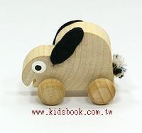 可愛動物迷你車:小兔子(特價品)(現貨數量:1)