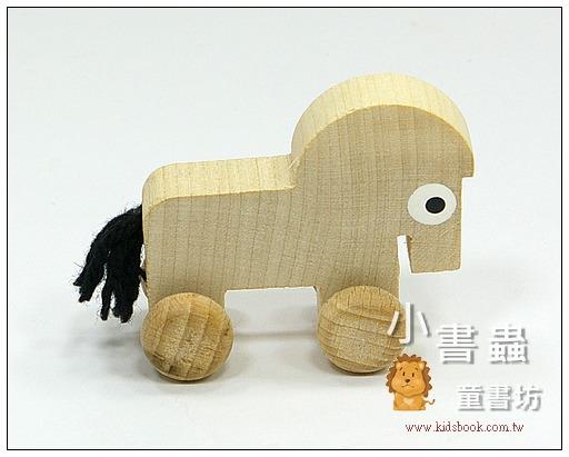 內頁放大:可愛動物迷你車:小馬(特價品)(現貨數量:3)