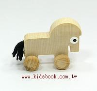 可愛動物迷你車:小馬(特價品)(現貨數量:3)