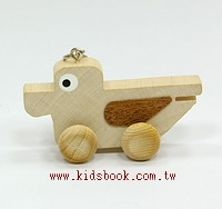 可愛動物迷你車鑰匙圈:小鴨子(特價品)(現貨數量:4)