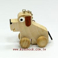 可愛動物迷你車鑰匙圈:小狗狗(特價品)(現貨數量:3)