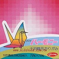 千羽鶴漸層紙-3(10色200枚)7.5cm