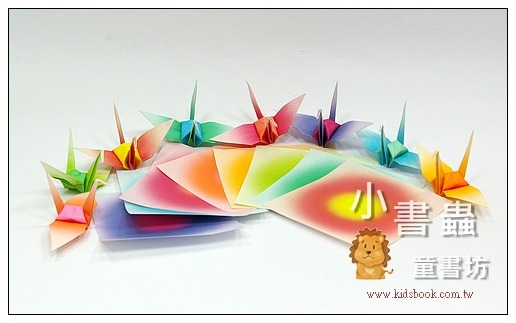 內頁放大:千羽鶴漸層紙-4(10色200枚)7.5cm