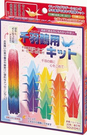 內頁放大:千羽鶴單色紙(7.5cm)