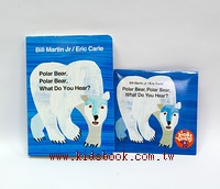 艾瑞.卡爾:(硬頁書+CD):Polar Bear, Polar Bear, What Do You Hear?