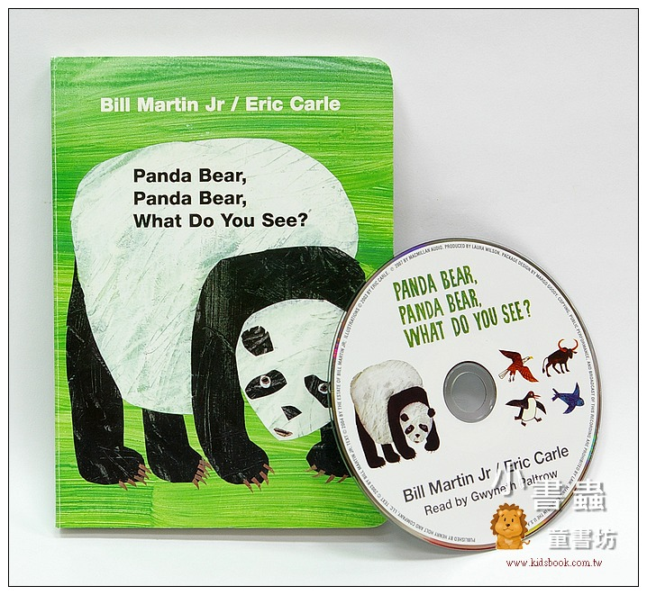 內頁放大:艾瑞.卡爾:(硬頁書+CD): Panda Bear, Panda Bear, What Do You See?