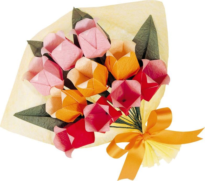 日本摺紙材料包:鬱金香紙花(中級)