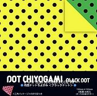 日本色紙:雙面花紙─黑點點(6色調36枚)