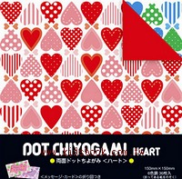 日本色紙:雙面花紙─愛心(6色調36枚)