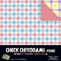 日本色紙:雙面花紙─格子(6色調36枚)