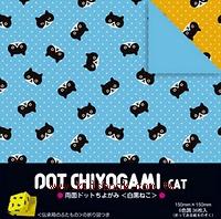 日本色紙:雙面花紙─黑白貓(6色調36枚)