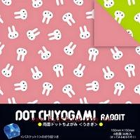 日本色紙:雙面花紙─小兔子(6色調36枚)