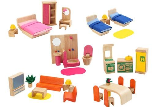 內頁放大:娃娃屋配件:六套傢俱組(新)