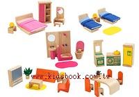 娃娃屋配件:六套傢俱組(新)