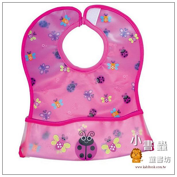 內頁放大:防水口袋圍兜 – 昆蟲粉紅(85折)