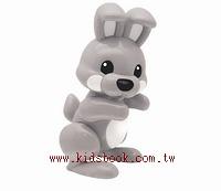 兔子(灰):TOLO動物公仔