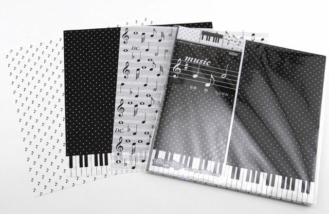 內頁放大:日本色紙(花式)(單面):鋼琴、音符、樂譜(現貨:7)
