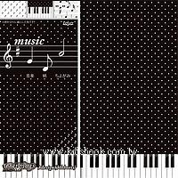 日本花紙(單面):鋼琴、音符、樂譜(現貨數量>5)