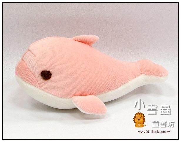 內頁放大:手工綿柔布偶:迷你小海豚(粉紅色) (台灣製造)