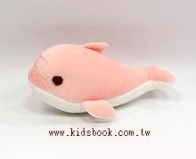 手工綿柔安撫布偶:迷你小海豚(粉紅色) (台灣製造)