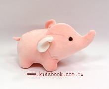 手工綿柔安撫布偶:迷你小象(粉紅色)(台灣製造)