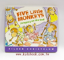 FIVE LITTLE MONKEYS JUMPING ON THE BED/大本硬頁書