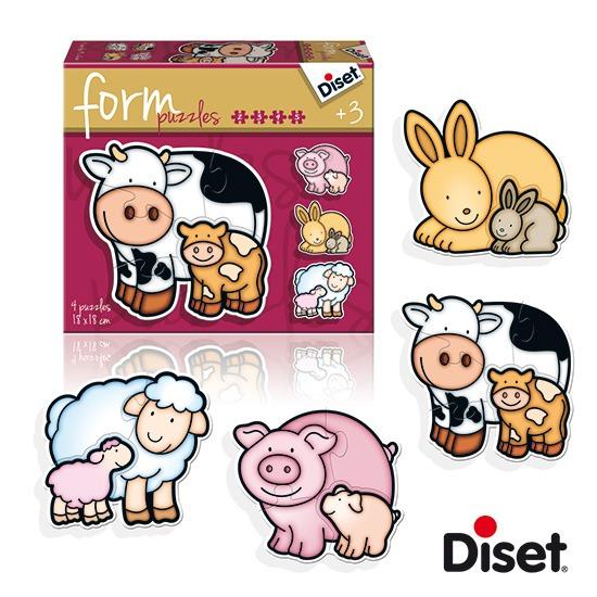 內頁放大:西班牙寶寶漸進式拼圖–農場動物母與子(2.3.4.5pcs)軋型系列(特價 )