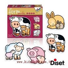 西班牙寶寶漸進式拼圖–農場動物母與子(2.3.4.5pcs)軋型系列(特價 )