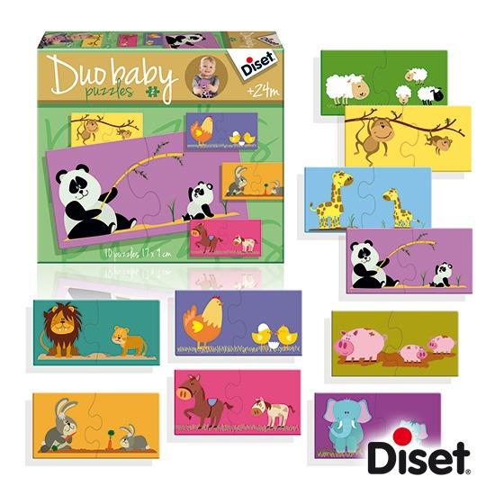 內頁放大:西班牙寶寶拼圖–媽咪寶寶配對組(2片共10組)(特價)