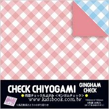 日本花紙(雙面):單色格子(6色調36枚)(現貨數量:4)