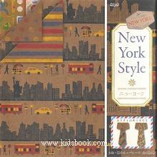 日本花紙(雙面):紐約風(4色調32枚)現貨數量:1