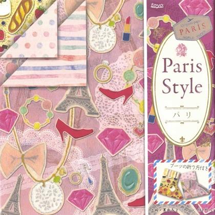內頁放大:日本花紙(雙面):巴黎風(4色調32枚)(現貨數量>5)