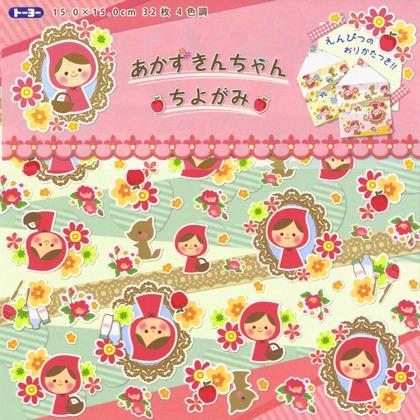 內頁放大:日本花紙(單面):小紅帽(現貨數量>5)