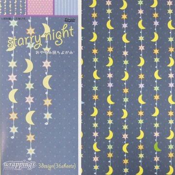 內頁放大:日本花紙(單面):星夜(現貨數量>5)