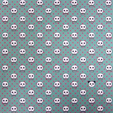 內頁放大:日本花紙(單面):Q版骷髏頭(現貨數量:2)