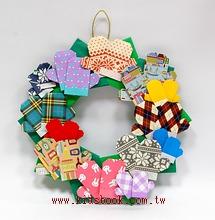手套摺紙材料包(8大+4小雙手套)+聖誕圈圈(大)